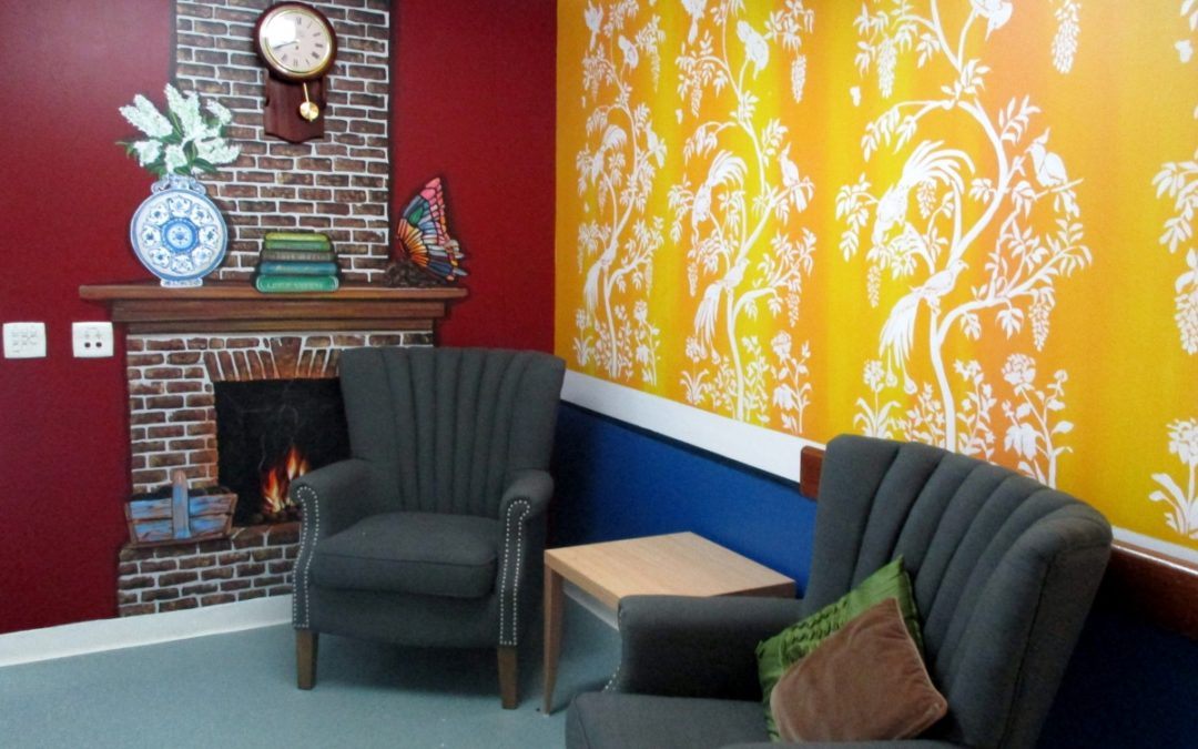 Story by Tailored Artworks on 2 hand-painted Brisbane Dementia Murals for Blue Care at Kedron.