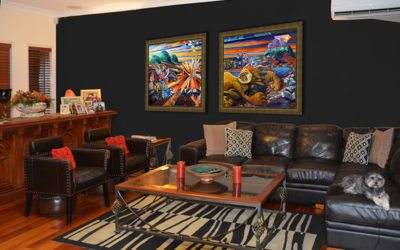 "Riverhills intimate Lounge Renovation inspired by ""Light of Heart"" art commission"