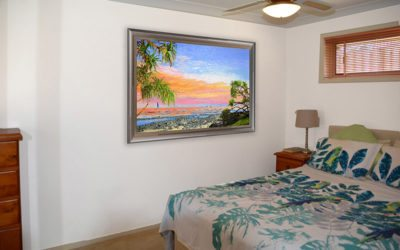 Custom bedroom decor artwork that created a Peace of Burleigh!