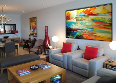 Eclectic artwork decor - after