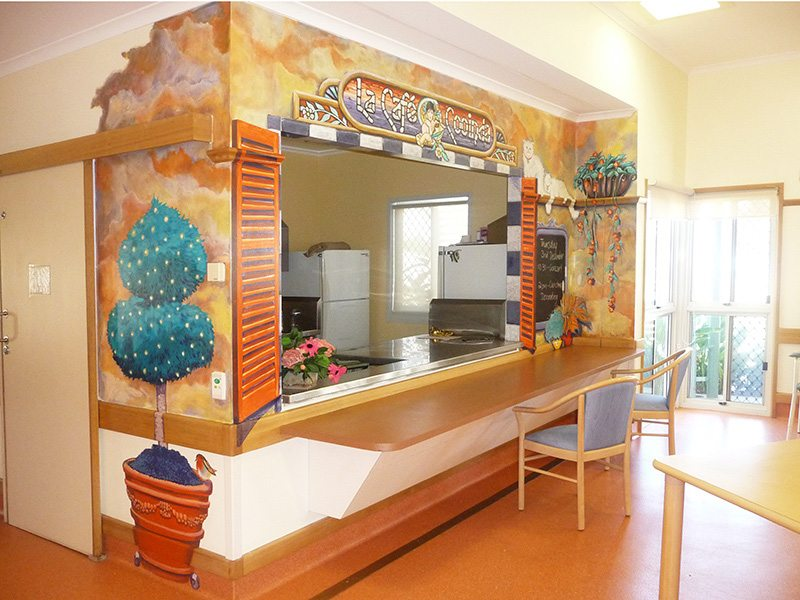 Queensland Health, Cooinda House.  Themed spaces for dementia