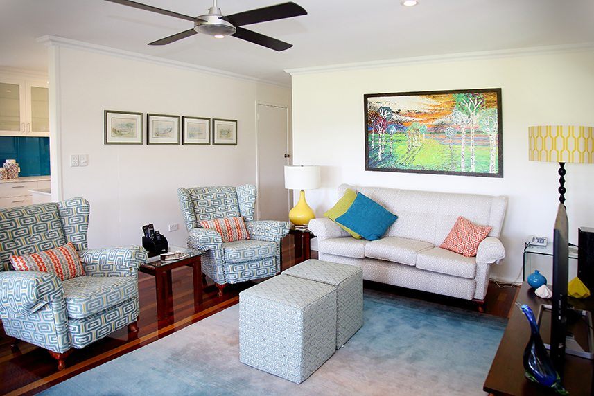 classic contemporary style living room