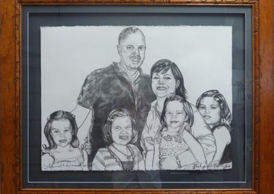 hand painted family portrait commissions