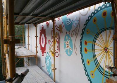 corporate art mural