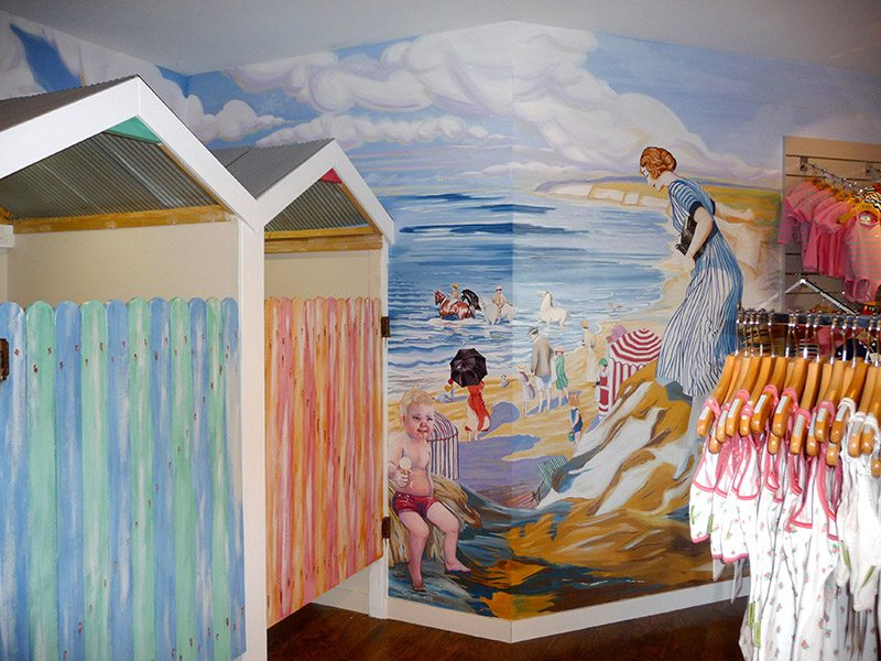 The Brief: Hand Paint Wall Murals To Create Step Back In Time Themes:  Enchanted Forest Playground, 1950u0027s Beach Scene For Beachwear And Faux  Finish Change ...