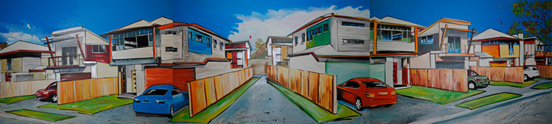 architecture painting by Sharron Tancred