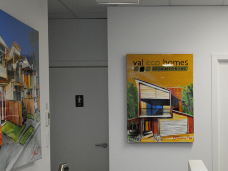 artistic signage for corporate offices