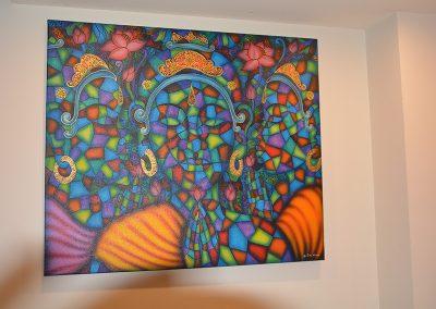 Balinese semi abstract artwork