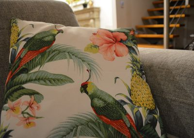 cushions to match kitchen art commission
