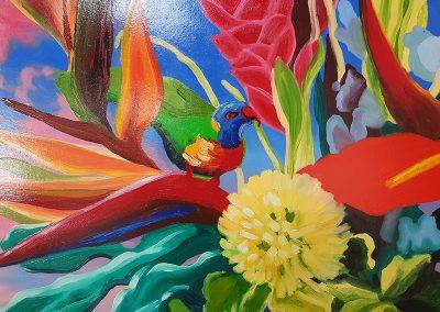 closeup of kitchen art commission