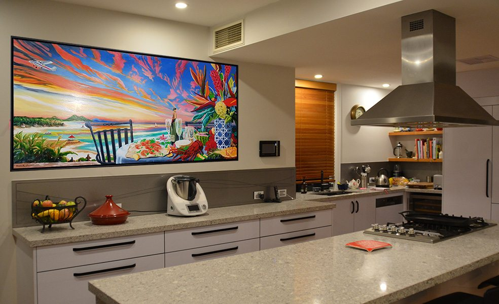 Bare kitchen wall? Confirm your style with a kitchen artwork commission!