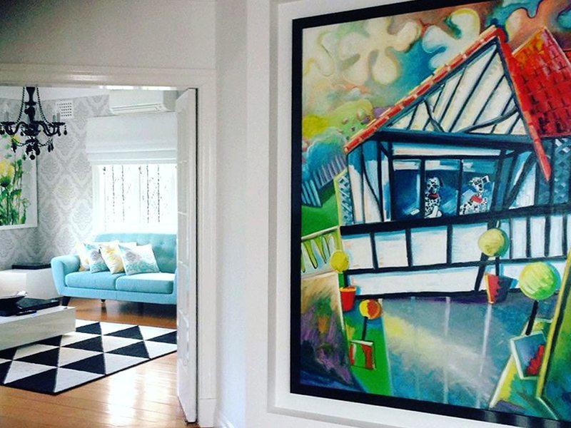 Spot-Da-Dog, foyer artwork design by Sharron Tancred
