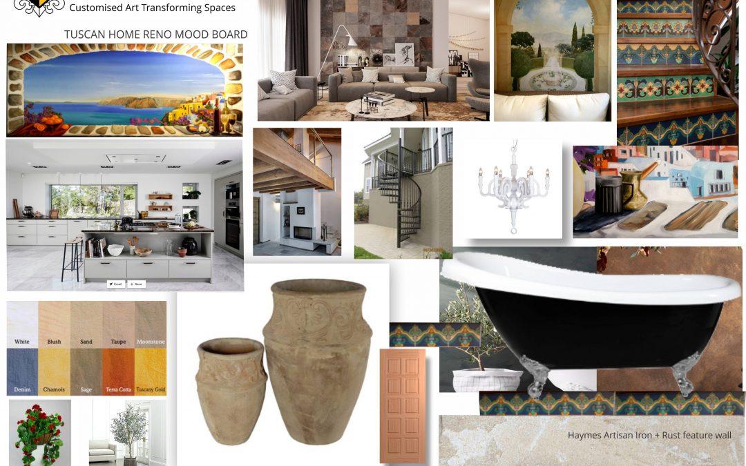 Tuscan home renovation mood board