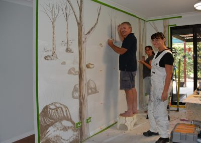 mural painting and space planning