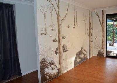 tree mural painting