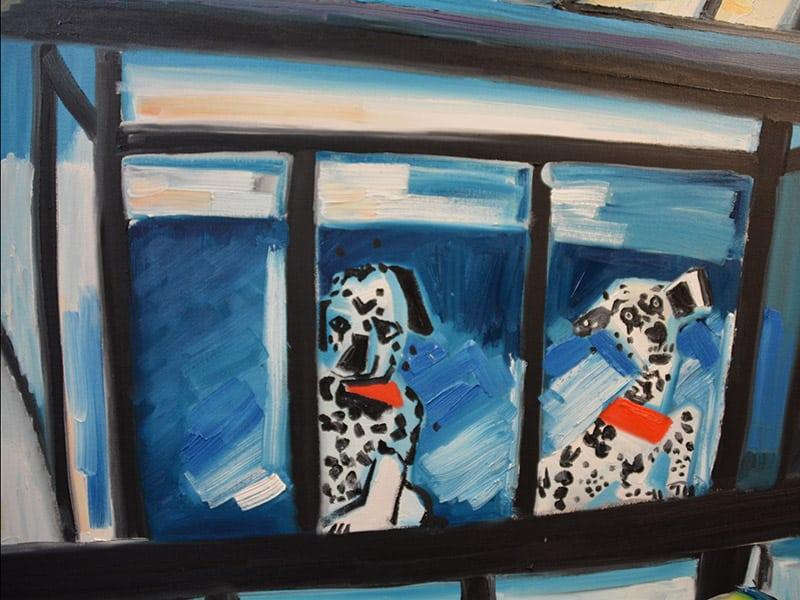 Spot-Da-Dog, foyer artwork design by Sharron Tancred detail shot