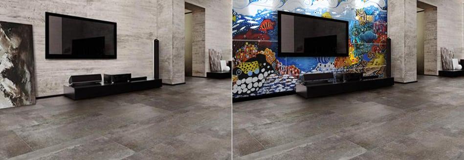 Utopia TV Tile Mural