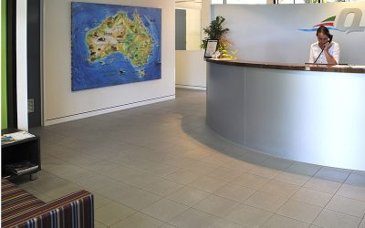 Giant hand-painted map of Australia for Queensland Thermo King