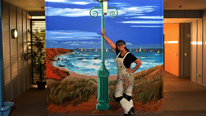 Colourful murals are helping 'prompt memories' as well as keeping people with dementia safe