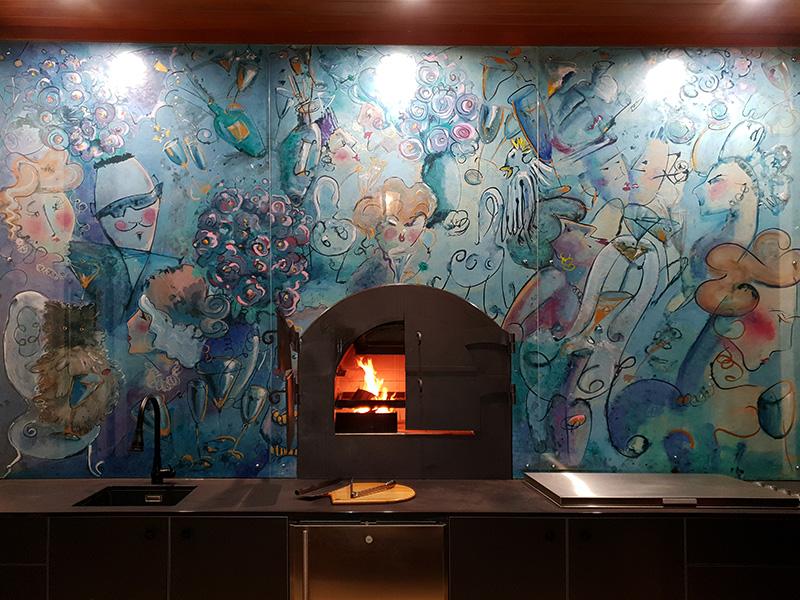 art splashback for kitchen
