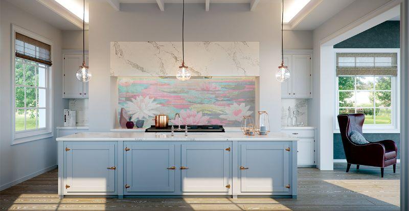 art splashback for kitchen counter