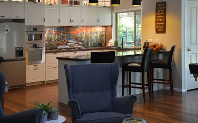 Norman Creek Splashback in contemporary rustic style