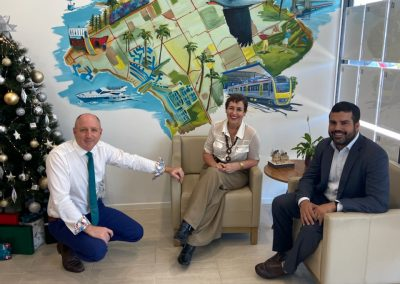 Luke Howarth, Sharron Tancred and Damien Miso - Ray White Woody Point Mural