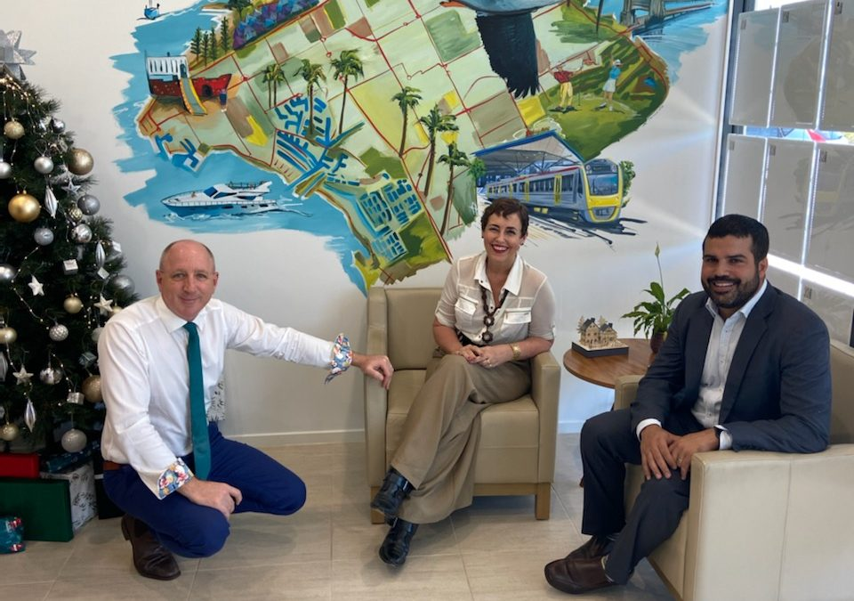 Luke Howarth, Sharron Tancred and Damien Miso - Ray White Woody Point Mural.
