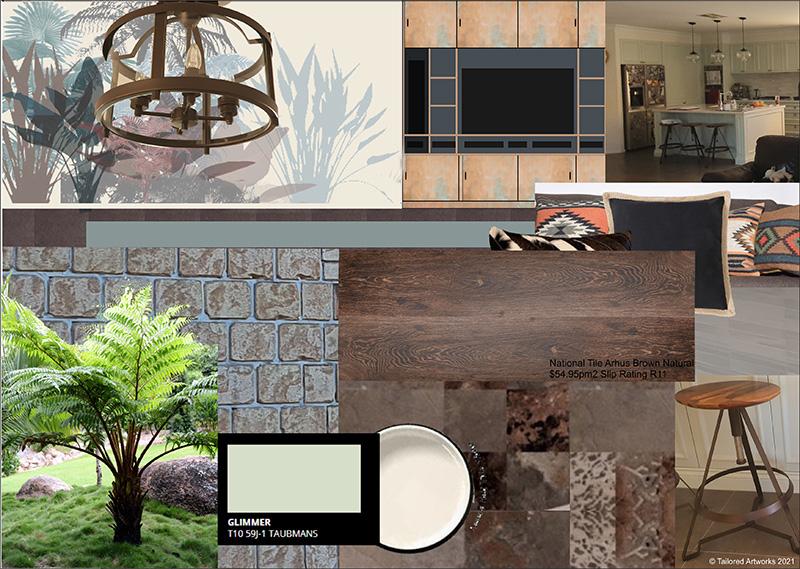 art inspired renovation mood board