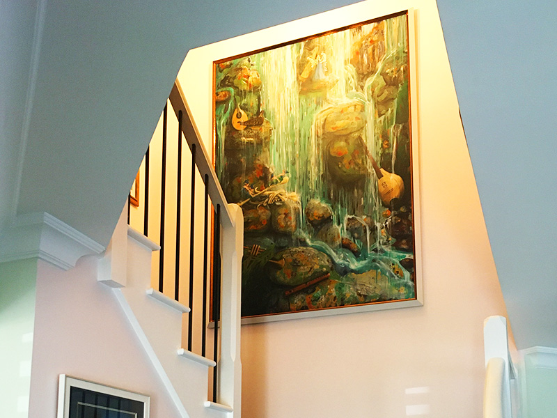 custom art for homes featuring pixies