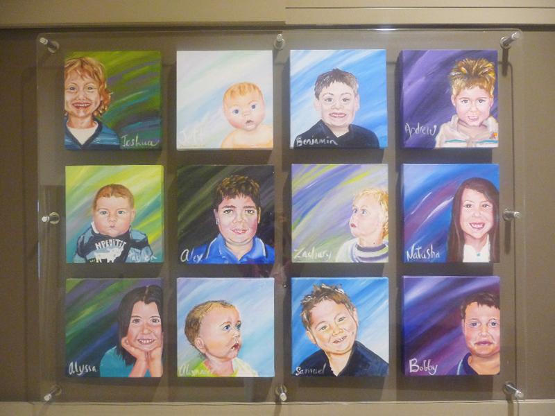 children's portraits artwork for retail