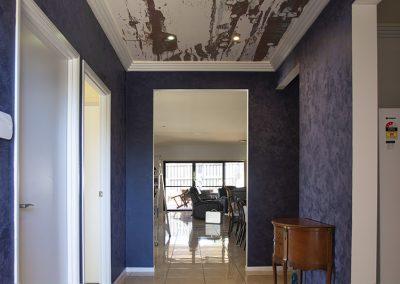 ceiling mural in foyer