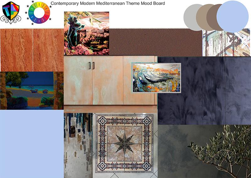 modern renaissance style mood board