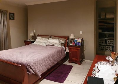 bedroom before Mediterranean style home theming