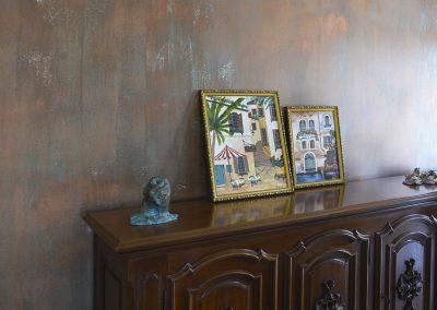 copper patina modern renaissance wall