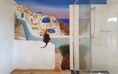 Caboolture Grecian Themed Bathroom Mural