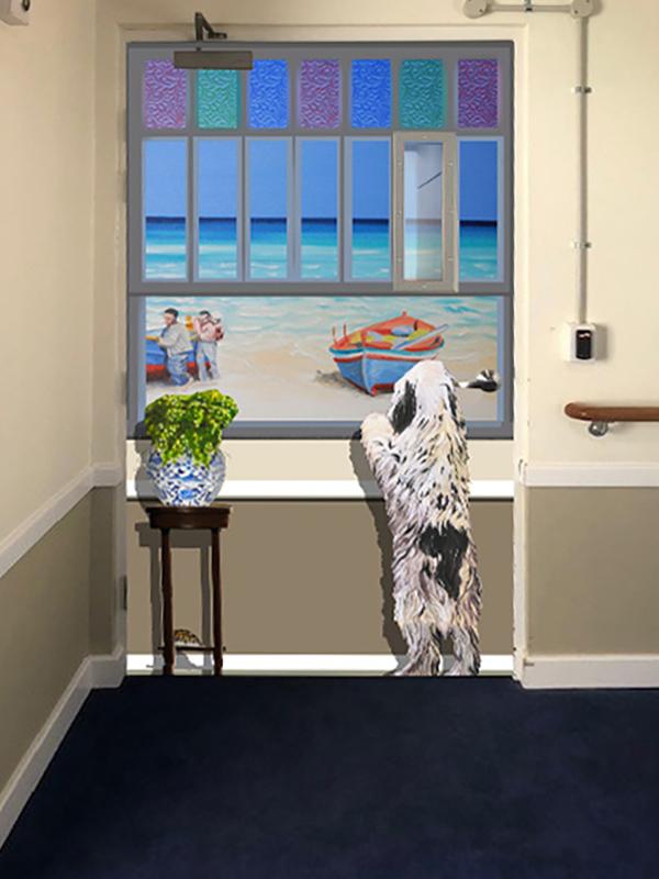 after door disguise for exit seeking behaviors