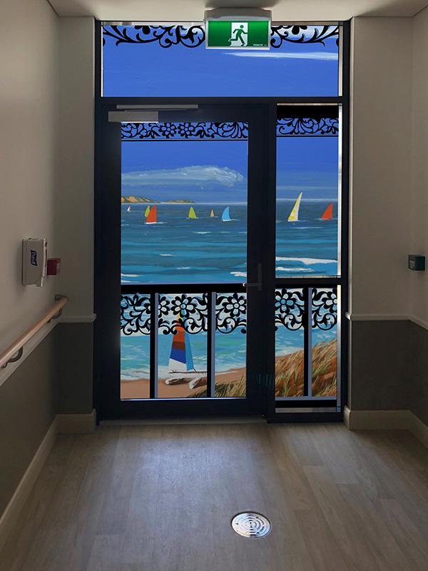 After dementia door wrap for dementia exit seekers