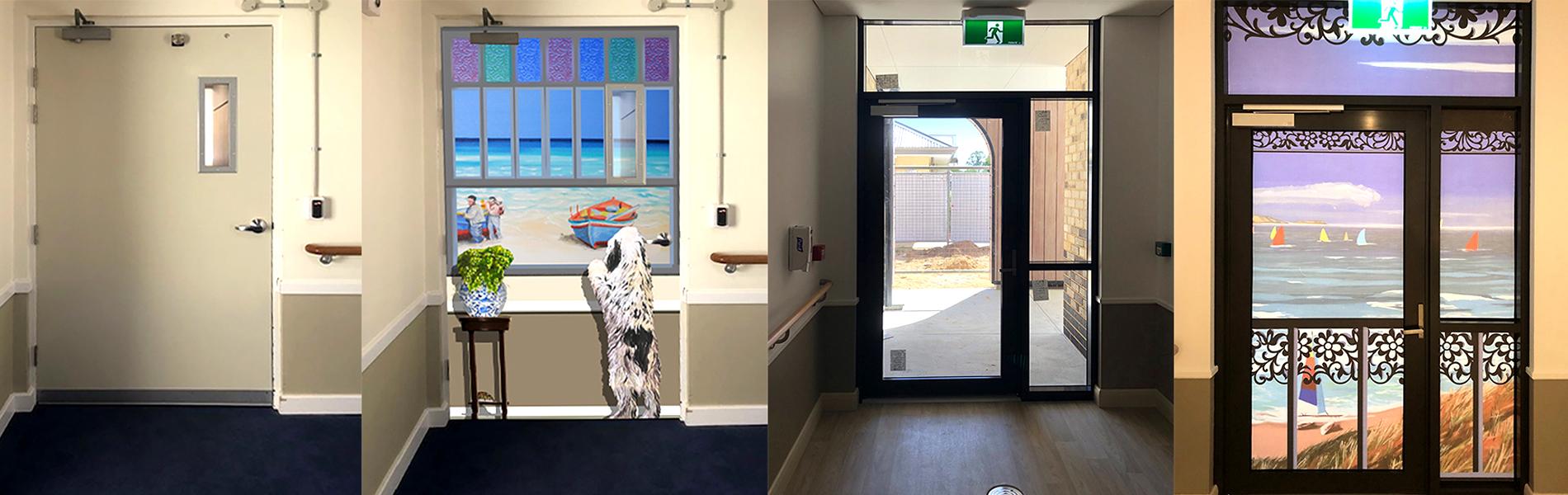 doors for older adults with dementia seeking elopement