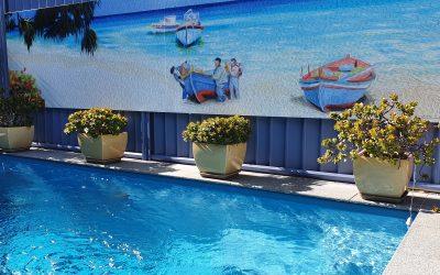 Ormiston Outdoor Pool Wall Mural