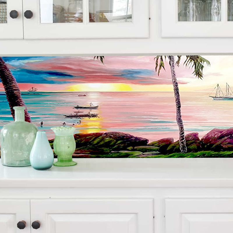 feature-wall-art-including-splashbacks-by-Brisbane-home-renovation-artists-Tailored-Artworks